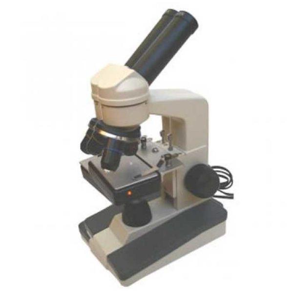 Микроскоп со встроенным обогревательным столиком и осветителем