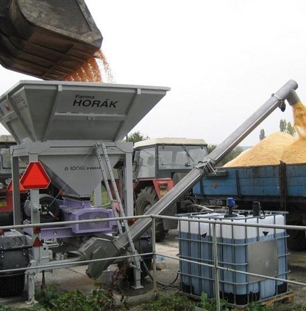 Плющилка влажного зерна M1